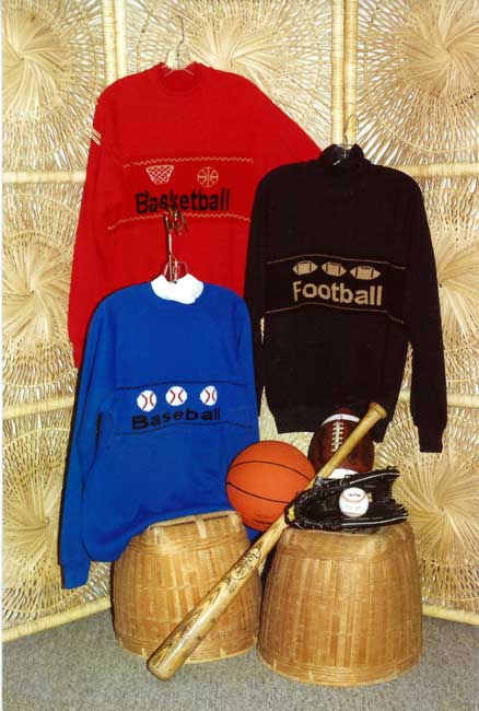 Sandee Cherry's Pattern Book Sweatshirt Strips Sport Designs Sandees Kwik Knits