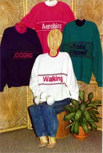 sandees kwik knits pattern book sweatshirt strips fitness designs for machine knitting
