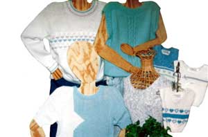 Machine Knitting Sandee's Kwik Knits Bulky Sweaters and Vests Patterns and Books