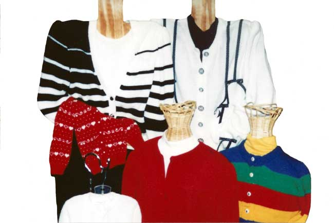 Knitting Machine Patterns Set-In Sleeve Cardigans by Sandee Cherry Sandees Kwik Knits